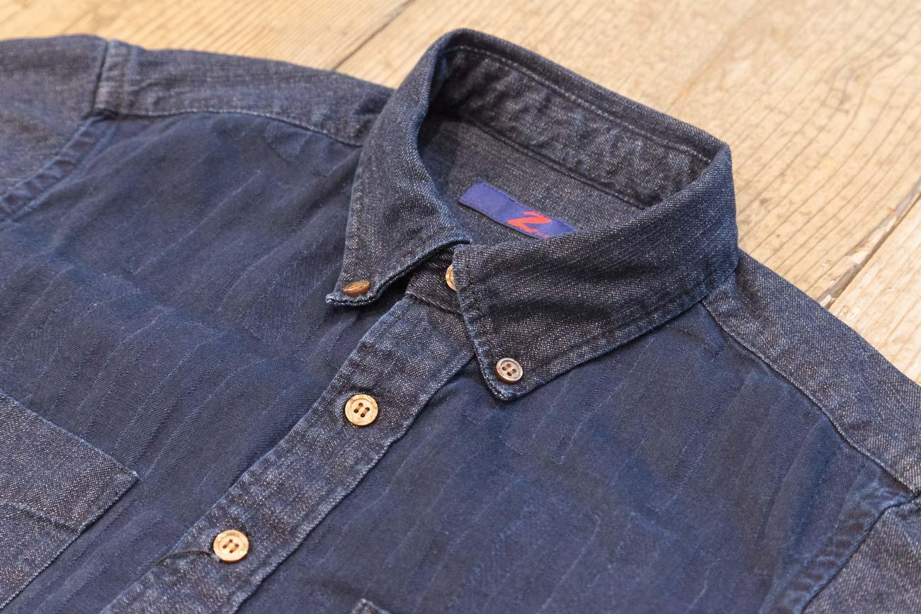 Z-JEANS モザイク ジャガードデニム BDシャツ(SI)